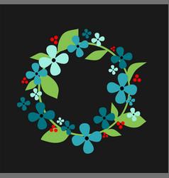 floral wreath spring vector image
