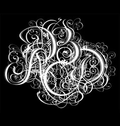 gothic abstract calligraphy uncial fraktur vector image