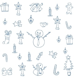 Hand Drawn Christmas vector image