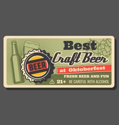 Handmade craft beer oktoberfest brewery festival vector