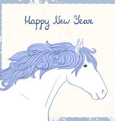 HorseHead1 vector image