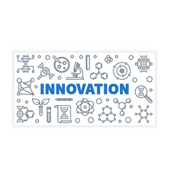 Innovation science outline banner vector