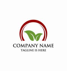 leaf business logo vector image