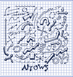 lot of pretty arrows sketches vector image