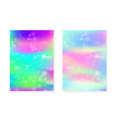 Magic background with princess rainbow gradient vector