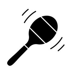 Maraca glyph icon percussion musical instrument vector