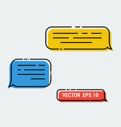 message icon in trendy flat design speech bubble vector image