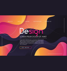 modern trendy fluid type background vector image