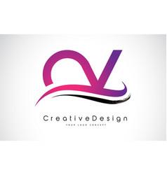 ov o v letter logo design creative icon modern vector image