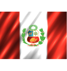 peru national flag background vector image