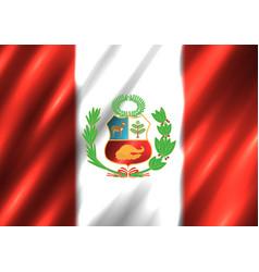 peru national flag background vector image