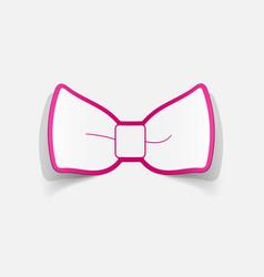 Realistic paper sticker bow vector