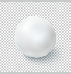 Realistic snow ball isolated on transparent vector image