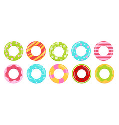 rings toys in water collection vector image