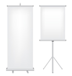 roll up stand vector image