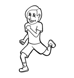 Runner with smile vector