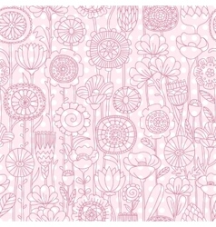 Seamless pink floral pattern vector