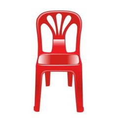 Shiny red chair vector
