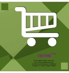 Shopping basket Flat modern web design on a flat vector image