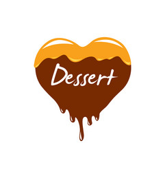 sign in the form of sweet food vector image