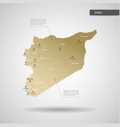 stylized syria map vector image