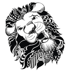 Tattoo leo symbol vector image