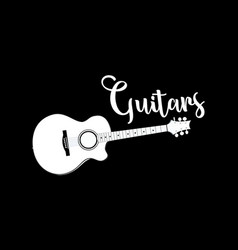 template of guitar shop logo vector image
