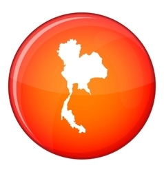 Thailand map icon flat style vector