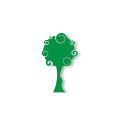 tree education logo design original green tree vector image