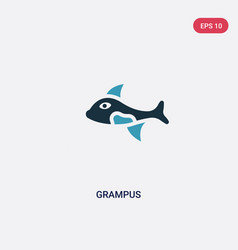 two color grampus icon from animals concept vector image