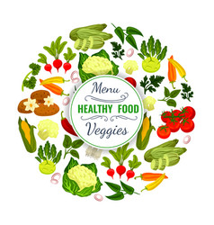 vegetables or veggies food poster vector image