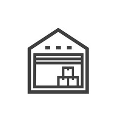 warehouse icon images vector image