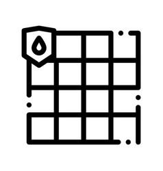Waterpromaterial dalle thin line icon vector