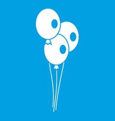 Wedding balloons icon white vector