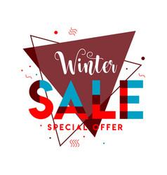 Winter sale template design vector