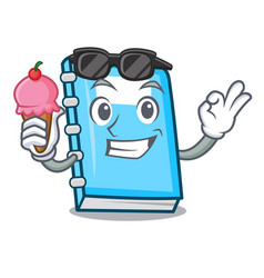 with ice cream education character cartoon style vector image