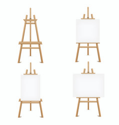 wooden easel set frame for holding artist works vector image