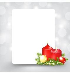 Xmas Silver Card vector image