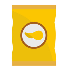 Yellow pouch of potato chips icon isolated vector