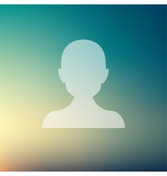 Young guy in flat style icon vector