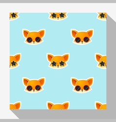 Animal seamless pattern collection with fox 1 vector image