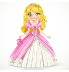 Blond princess vector image vector image