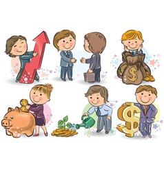 Business kids vector image vector image