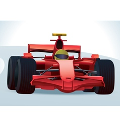 f1 racing car vector image vector image