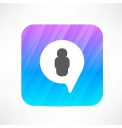 Man in the bubble speech icon vector image vector image