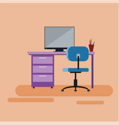 workspace for specialist bank consultant manager vector image