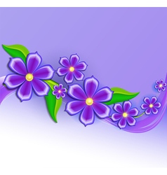 background with beautiful paper-cut flowers vector image vector image