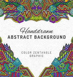 Colored hand drawn background vector