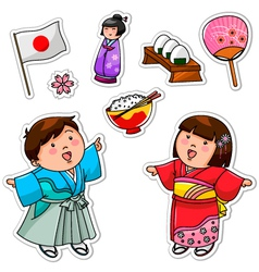japanese collection vector image vector image