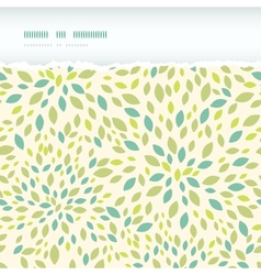 Leaf texture horizontal torn frame seamless vector image vector image